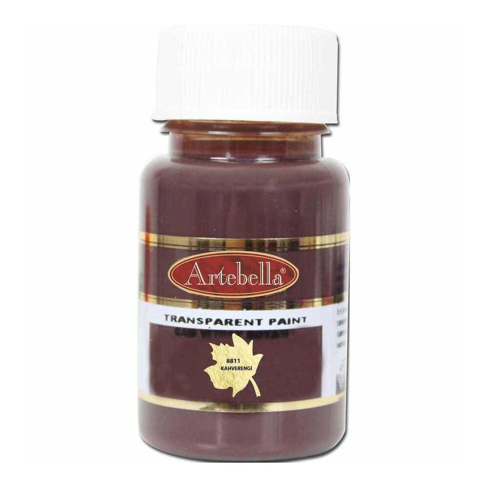 Cam Vitray Boyası Su Bazlı Kahverengi 50 ml